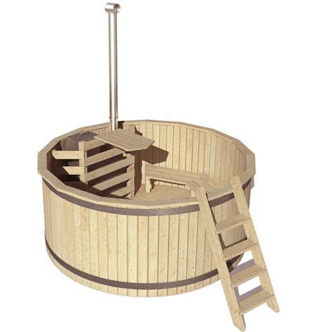 Badezuber Badefass Holz Badetonne Stahlwandpool Real