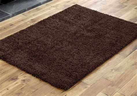 soft shaggy rugs new large thick chocolate brown soft shaggy rug 110x160