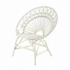 Fauteuil Vintage Maison Du Monde : fauteuil vintage en rotin blanc peacock maisons du monde ~ Teatrodelosmanantiales.com Idées de Décoration