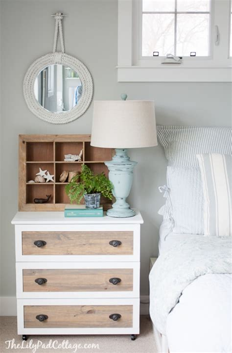 Ikea Nightstand Makeover by Effie Row Ikea Tarva Makeover