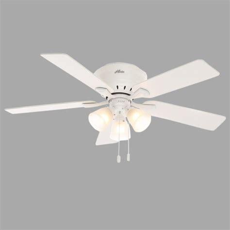 low profile white ceiling fan hunter reinert 52 in indoor low profile white ceiling fan