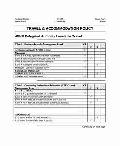 Staff Policy Template 27 Images Of Corporate Travel Policy Template