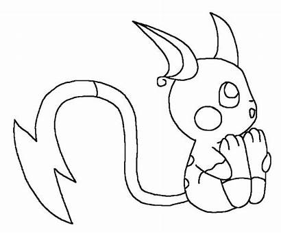 Coloring Raichu Pokemon Chibi Printable Getcolorings