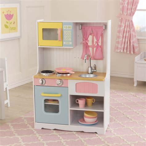 cuisine en bois en jouet jouets des bois cuisine en bois pastel country 53354