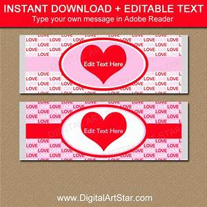 valentine party favors candy bar wrapper template With valentine candy bar wrapper templates