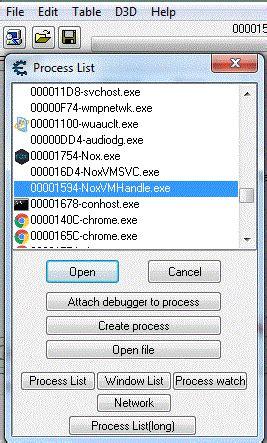 started  nox emulator  cheat engine