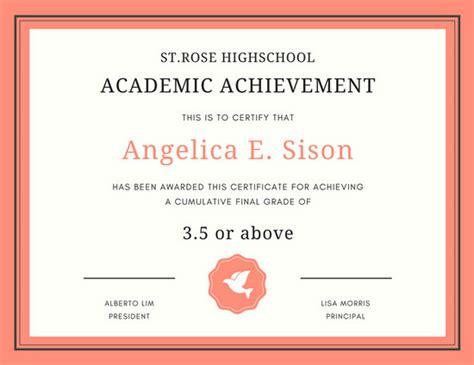 customize  academic certificate templates  canva