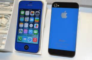 does metropcs iphones iphone 4 16gb gsm unlocked custom blue i5 back style