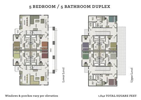 beautiful  bedroom duplex house plans  home plans design