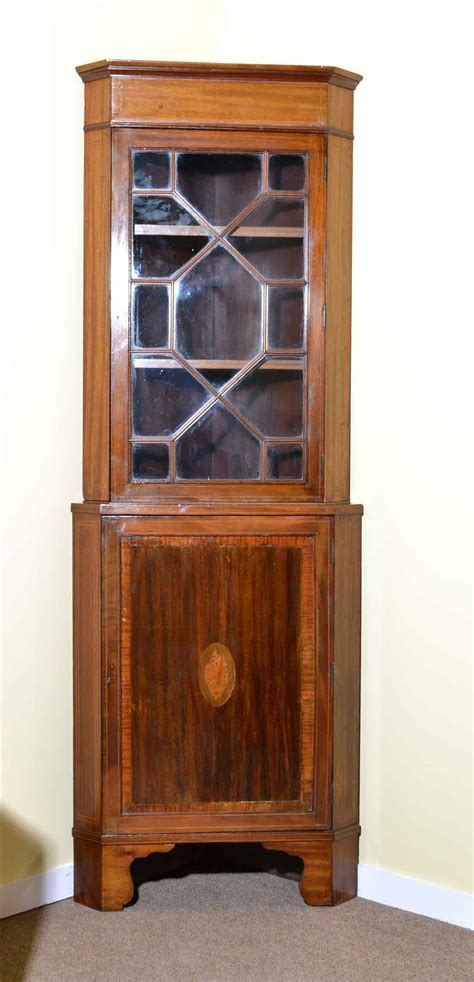 mahogany corner cabinets antique edwardian mahogany inlaid corner cabinet c1900 3950