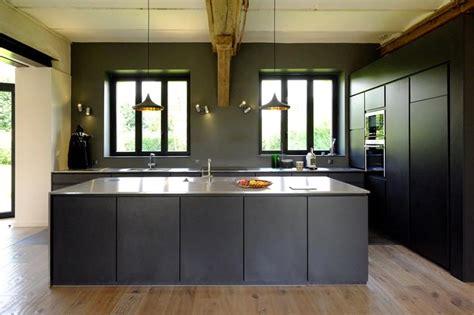 eclairage pour cuisine cuisine noir mat annalefoll photo n 97 domozoom