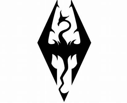 Skyrim Symbol Imperial Dragon Tattoo Symbole Decal