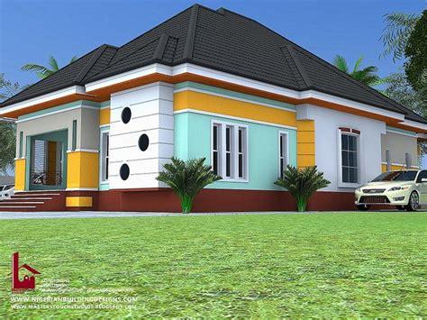 beautiful  bedroom bungalow house plans designs properties nigeria