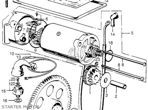 1974 Honda Cb450 Wiring Diagram by Honda Cb750 Four K4 1974 Usa Parts List Partsmanual Partsfiche