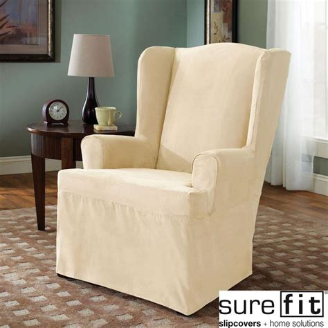 wing chair slipcovers sure fit wing chair cover