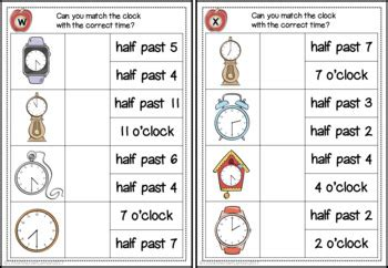 telling  time oclock    activities