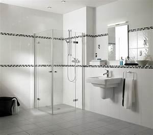 Faience Salle De Bain Blanche : carrelage salle de bains 34 id es avec la belle mosa que ~ Melissatoandfro.com Idées de Décoration