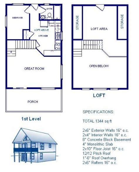 24x24 cabin plans with loft Google Search Cabin