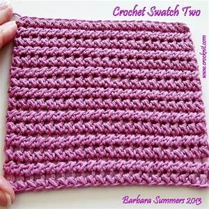 Mi Crochet Swatch it: SWATCH TWO - HALF DOUBLE CROCHET PAIRED