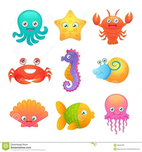 cute cartoon sea octopus cute sea life creatures cartoon