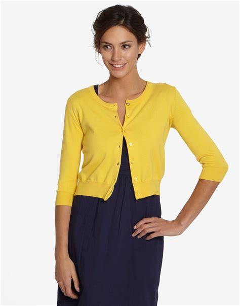 yellow cardigan sweater 12 wardrobe pieces vainchic
