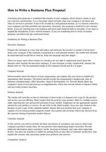 Writing A Resume For A Business Plan by How To Write A Business Plan