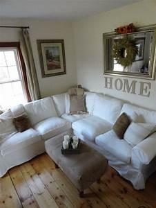 White ikea ektorp sectional sofa no sew ottoman cover for Sectional sofa redo