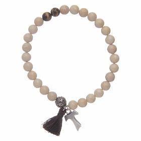 Bracelet Avec Elastique : bracelet lastique avec tau et grains en fossil vente en ligne sur holyart ~ Melissatoandfro.com Idées de Décoration