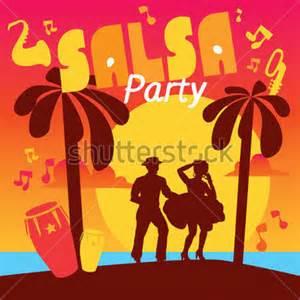 Cartoon Couple Dancing Salsa