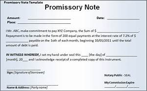 promissory note templates company documents With free promissory note template word document