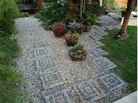 landscape stepping stones Jeffrey Bale's World of Gardens: Building a Pebble Mosaic ...
