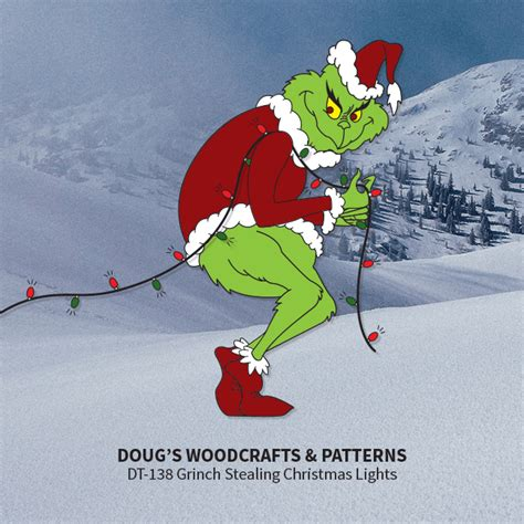 grinch stealing lights yard displays doug s woodcrafts patterns