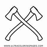 Coloring Axe Axes Hatchet Ultra Ultracoloringpages sketch template