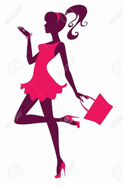 Clipart Stylish Girly Woman Purse Clip Carrying