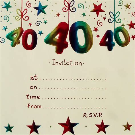 a birthday invitation 40th birthday invitation templates free download best