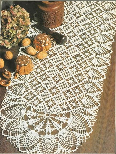 creative handmade crochet tablecloth table runner dwell  decor