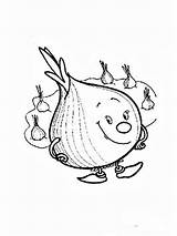 Onion Coloring Vegetables Recommended Fruit Template Cucumber Mycoloring Apple sketch template