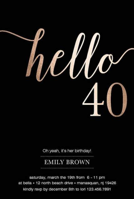 30 trendy birthday invitations ideas 40th #birthday in