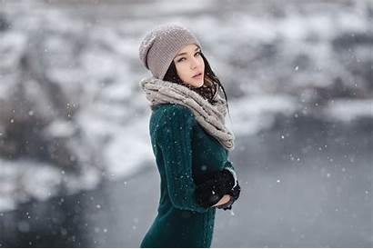Petrova Angelina Winter Wallpapers Sensual Snow Gaze