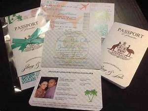 vanessa39s diy passport destination wedding invitations With handmade passport wedding invitations