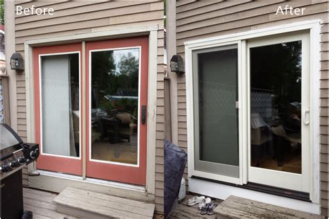 before and after window replacements renewal by andersen