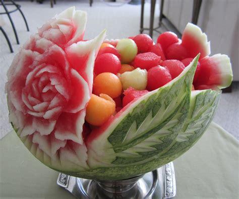 cuisine arte fruit salad fruit carvings flower baskets watermelon