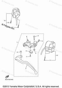 Yamaha Motorcycle 2005 Oem Parts Diagram For Handle Switch