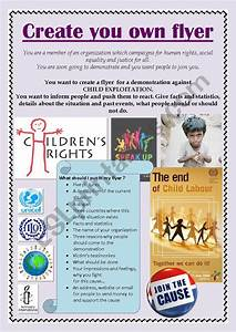 How To Make Your Own Flyers For Your Business Child Labour Create Your Own Flyer Esl Worksheet By