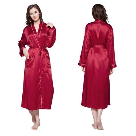 robe de chambre en soie pour femme robe de chambre femme longue