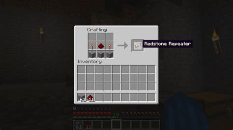 the minecraft redstone repeater recipe easy step by step