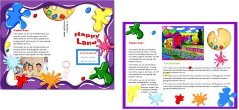 child care brochure template 21 child care owner 871 | CCO Child Care Brochure 21 Template Inside and Out