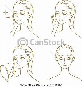 Vector Clipart of Skin care, woman - skin care, woman ...