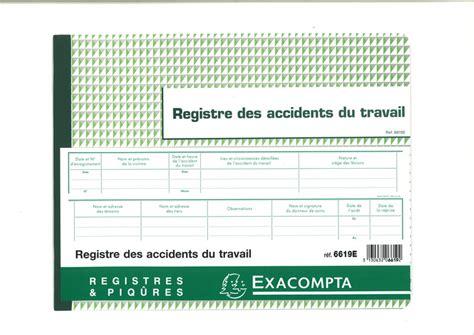 registre du travail modele registre des accidents du travail en stock 224 lyon