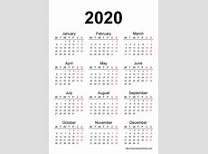 2020 Printable 2018 calendar Free Download USA India Spain